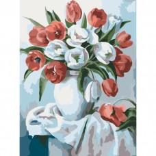Букет яскравих тюльпанів 30*40см