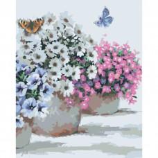 Квіти в горщиках 40*50см